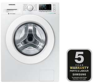Double Discount - Samsung WW90J5456MW 9KG 1400 Spin Washing Machine White + 5 Year Guarantee = £323.99 with code @ Argos