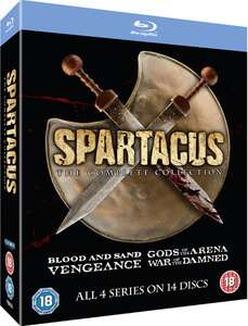 Spartacus Complete Collection bluray £17.99 From zavvi