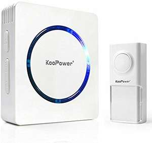 Koopower Waterproof Doorbell £8.99  (Prime) / £12.98 (non Prime)  Sold by Letpower(ISOLEM TM) and Fulfilled by Amazon