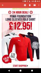 Puma long sleeve polo shirts, various colours and sizes at Country Golf for £16.90 delivered