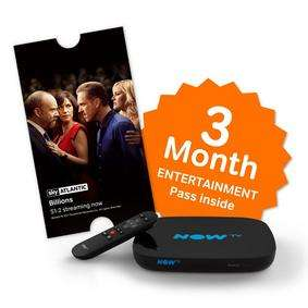 NOW TV with 3 Month Entertainment pass £19.99 @ Maplin (plus quidco and possible £5 voucher)