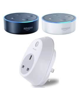 Amazon Echo Dot + TP-Link HS100 Wi-Fi Smart Plug £41.98 (Student Prime) or £44.98 (Prime) @ Amazon​