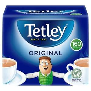 TETLEY 160 TEA BAGS HALF PRICE £2.34 @ TESCO