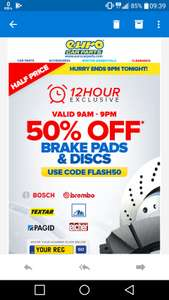 Euro Car Parts 12 Hour Flash Sale