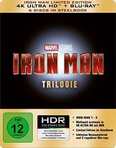 Iron Man 4k UHD Trilogy Steelbook from Amazon.de - Deal of the Day - €44.97