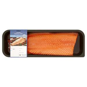 Whole Undressed Salmon Side 1kg Serves 6-8. Half price at £7.50 per KG at TESCO