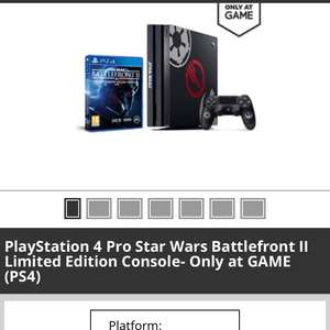 PS4 Pro with Battlefront 2 - £369.99 at GAME