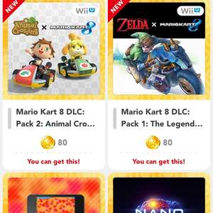 Mario kart 8 dlc packs 80gold coins each my Nintendo rewards