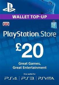 PlayStation £20 top up for £18.99 CDKeys