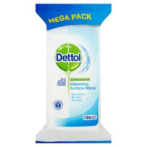 Half price Dettol Surface Cleanser Wipes Original 126S at Tesco - £2.50