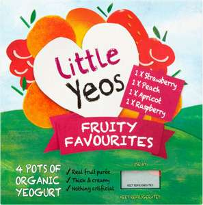 Yeo Valley Little Yeos Strawberry & Peach Apple & Pear Fromage Frais 6 x 45g was £1.65 now £1.00 @ Sainsbury's
