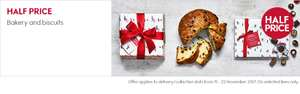Waitrose half price panettone, mince pies and biscuits