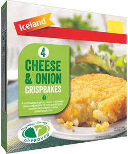 Iceland Cheese & Onion Crispbakes (4 per pack - 340g) ONLY £1.00 @ Iceland
