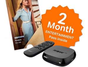 NOW TV Box + 2 month Entertainment Pass or 1 month Sky Movies Pass + Sky Store Voucher = £12.50  - Nectar Double Up on electricals at Sainsbury's makes it £7.50