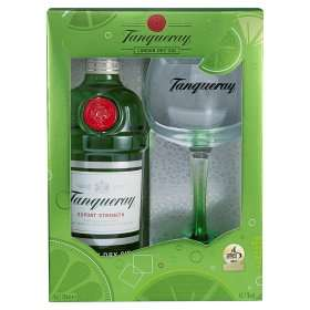 0.7L Tanqueray 43.1% Export Strength London Dry Gin with free glass in gift box - £15 at Asda