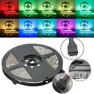 5M RGB Non-Waterproof 300 LED SMD 5050 LED Strip Light DC 12V - £3.58 at Banggood