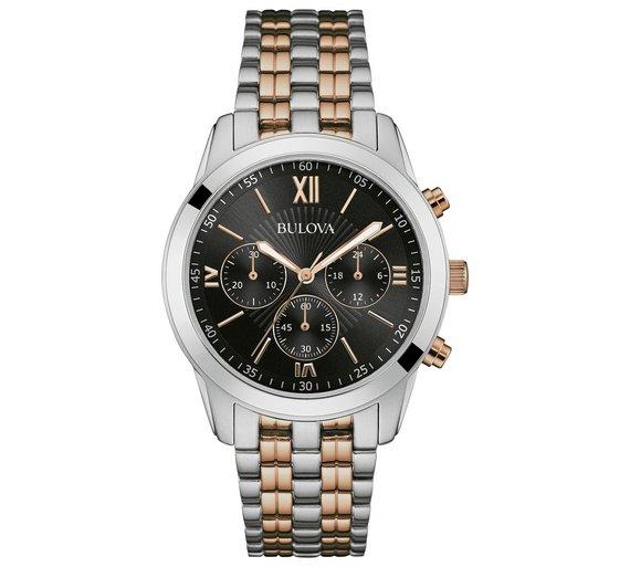 Bulova Men's Two Tone Chrono Stainless Steel Bracelet Watch. Was £99.99. Argos