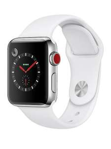 Apple Watch Series 3 (GPS + Cellular), 38mm Stainless Steel Case With Soft White Sport Band £599 (+ 20% Credit back = £480) @ Very