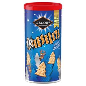 Jacobs Cheeselets Christmas Caddy (280g) /  Jacob's Mini Cheddars Christmas Caddy (260g) was £2.00 now 2 Caddies for £3.00