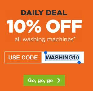 10% off ALL washing machines using code @ AO