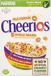 Nestle Cheerios (600g) was £3.30 now £1.65 @ Tesco