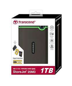 Transcend 1TB 2.5 inch USB 3.0 Military-Grade Shock Resistance £53.86 @ Amazon