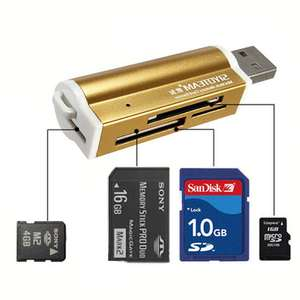 USB All in 1 Multi Memory Card Reader for Micro SD MMC SDHC TF M2 £2.33 @ Banggood