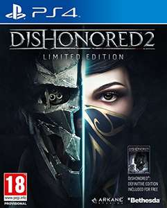 Dishonored 2 Limited edition + Dishonored Definitive edition PS4 £16.99 prime / £19.48 non prime Sold by Kirans Store and Fulfilled by Amazon