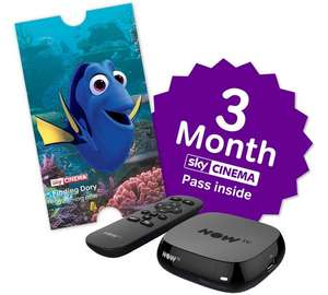 HALF PRICE (£19.99) - NOW TV HD Box with 3 Month Sky Cinema Pass + free Sky store rental - Argos