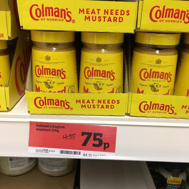 Colemans Mustard 170g 75p - Sainsbury's instore