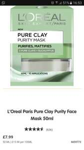 Loreal Purity Clay mask £1.50 @ Saisnbury's Heaton