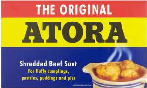 Atora Original Shredded Suet or Atora Light Shredded Vegetable Suet (200g) was £1.15 now 2 packets for £1.50 @ Tesco