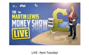 Tickets to Martin Lewis's money show: London only