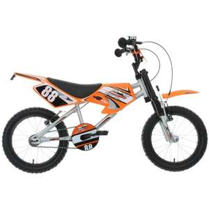 "Motobike MXR450 Kids Children Boys Bike Bicycle 16"" Inch Wheels Size Steel Frame £110 delivered at Halford"