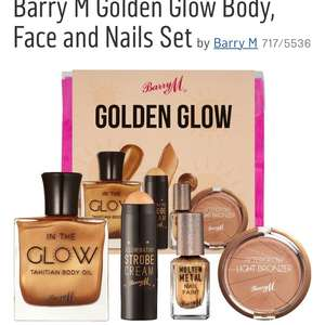 Barry M Golden Glow Body, Face and Nails Set - £10.39 @ Argos (C&C)
