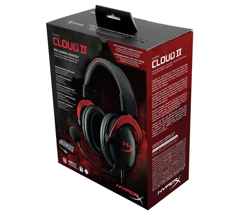 HyperX Cloud II Red Gaming Headset- £59.99 @ Argos