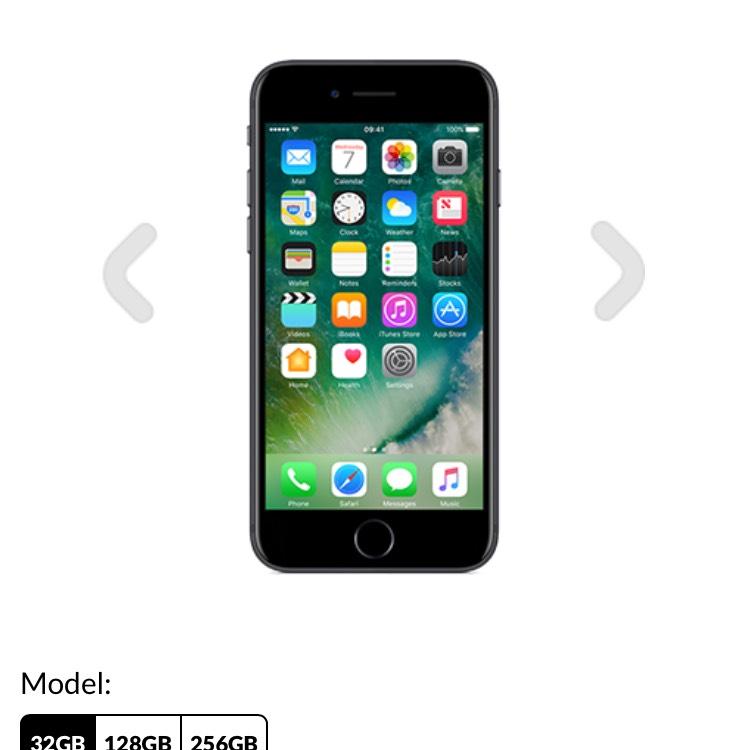 Apple iPhone 7 32GB New & sim free £499 @ GiffGaff