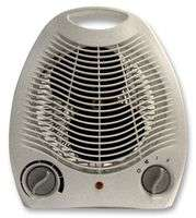 Pro-Elec 2kW Upright Free Standing Fan Heater With 2 Heat Settings (1kW & 2kW) - £7.74 + FREE Delivery @ CPC