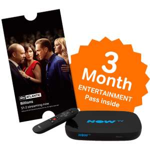 Now TV HD Smart Box with 3 Month Entertainment Pass - Black £20 @ AO
