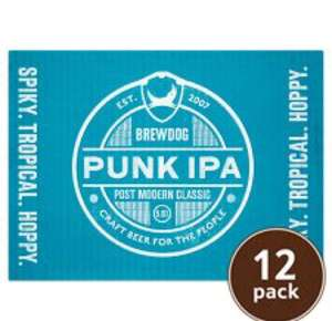 12 pack of brew dog ipa £13 @ Tesco