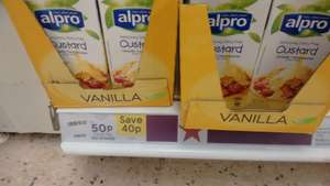 Alpro vanilla dairy free custard at Tesco 50p