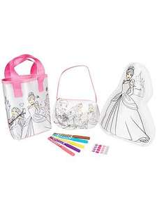 Disney Princess Disney Princess 3 pack colour your own set plus free click and collect - £7.99