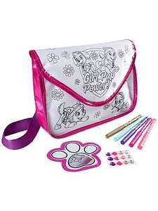 Paw Patrol Girls Colour Your Own Bag @very plus free c&c - £5.99