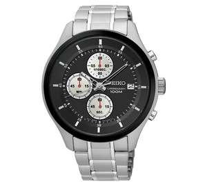 Seiko SKS545P1 Black Dial Men's Analog Watch Neo Sports Chronograph, £89.99 from Argos