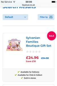 Sylvanian Families Boutique Gift Set  reduced twice at Toysrus and is now £24.96