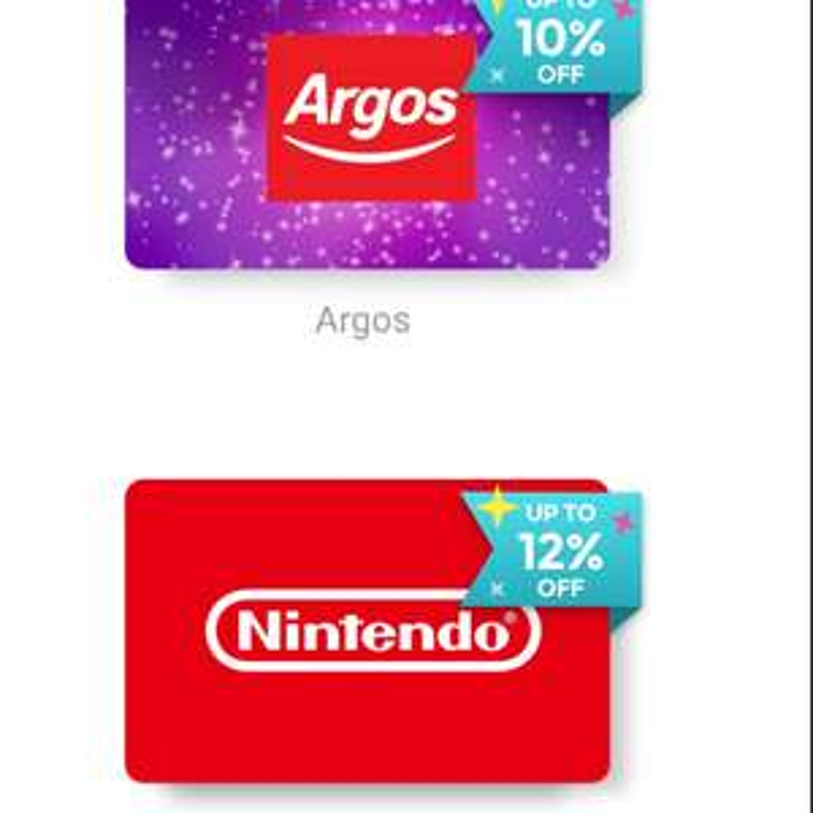 Zeek 12% off Nintendo/Argos Card
