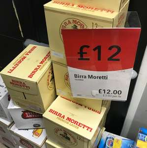 12 bottles Birra Moretti - £12 in store co-op