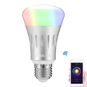 White Dimmable Smart WIFI LED Light Bulb Works with Amazon Alexa Echo AC85-265V £7.79 Banggood
