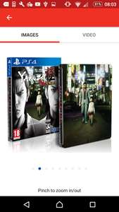 Yakuza Kiwami Steelbook Edition PS4 Game £19.49 Argos