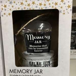 Glass Memory Jar £2 at Poundland